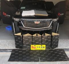 汕头星悦汽车音响凯迪拉克XT6静享车生活升级四门、四轮叶子板隔音降噪
