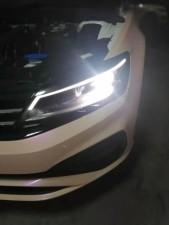 重庆改灯江津改灯专业车灯升级 21凌渡 原车LED 改激光大灯 提升大灯亮度