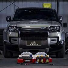 成都路虎卫士刹车性能升级改装AP7714六活塞刹车套件