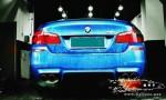 大连德利汽车改装宝马M5改装 天蝎akrapovic 全段排气,碳纤维尾嘴