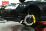 奥迪A7改装 BREMBO GT版刹车套件上身奥迪A7 帅~