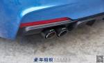 宝马3系改装,宝马3系F35改装阀门声浪四出排气带M字标