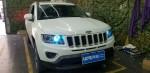 新乡指南者改装氙气灯LED大灯探路者改灯专业汽车灯光升级