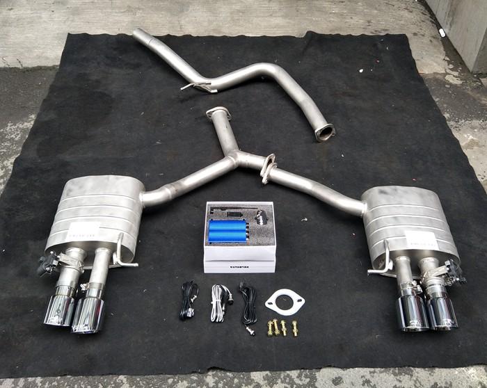 成都19款奥迪A4L改装CGW双边排气